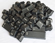 Stack of  black computer keyboard keys