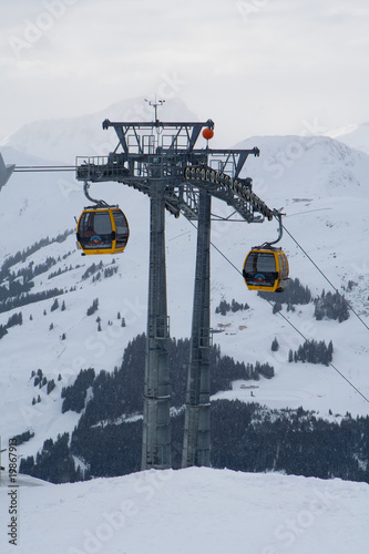 Gondola in alps