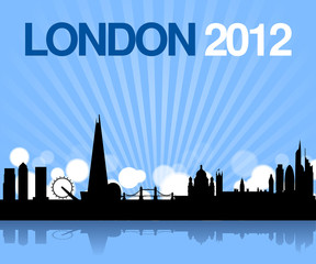 london 2012 future skyline vector background