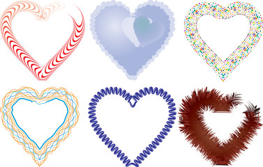 Set of valentine`s hearts, part 5, vector illustration