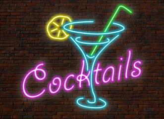 enseigne néon cocktails