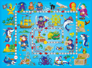 "Board game ""Pirates"""