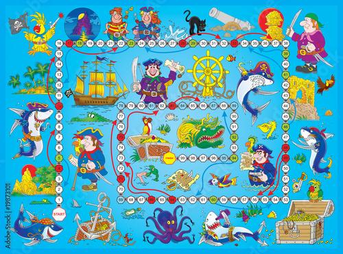 """Foto op Plexiglas Op straat Board game """"Pirates"""""""