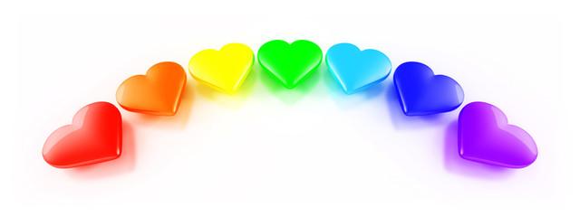Herzen in Regenbogen Farben