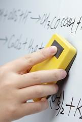 Erasing the whiteboard