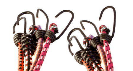 Colorful bungee rope hooks