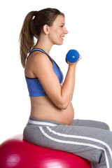 Pregnant Fitness Woman