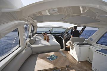 France, Corsica, luxury yacht