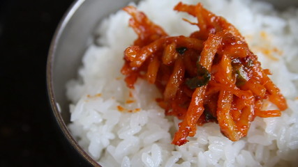 Spicy Rice Toppings