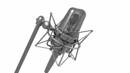 Professional microphone & white background / Alpha channel