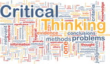 Critical thinking background concept poster