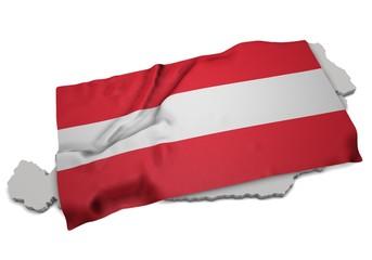 Fahne über Österreich