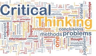 Critical thinking background concept