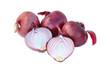 Spanish onions isolated on white background