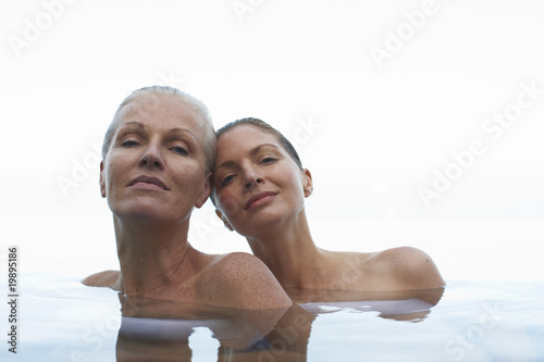 A portrait of two women