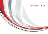 Abstract template with gray and red line. Vector