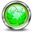 """Glossy 3D Style Button """"Recycling"""""""