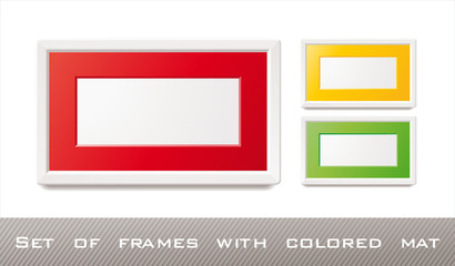 decorative colored frames for web design