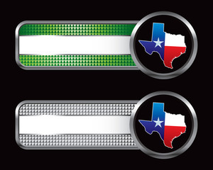 texas lonestar state green and silver checkered tabs