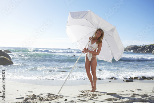Happy girl with an umbrella