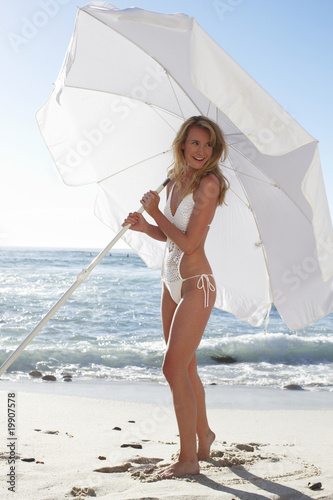 Beautiful girl with an umbrella