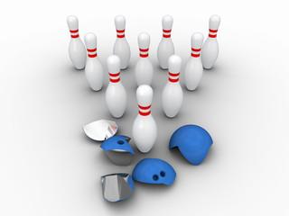 Strong bowling pins.