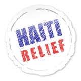 Haiti relief badge