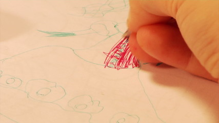 child drawing a princess (part 2)