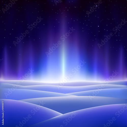 Fantastic north aurora on a dark icy planet - 19911977
