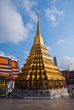 temple Phra Sri Ratana Chedi  gold in the inner Grand Palace poster
