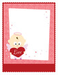 Valentine Baby Angel 8.5x11 Template