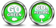 """Glossy 3D Style Buttons """"Go Green/CO2 Neutral"""""""