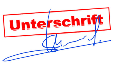 unterschrift - signature vectorielle - validation vecteur