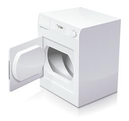 sèche-linge ouvert (reflet)