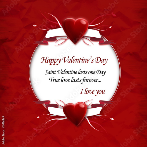 "Happy Valentine In Advance Quotes: ""Saint Valentine's Day Love Message Quote Template"