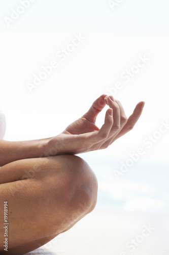 Hand in lotus pose