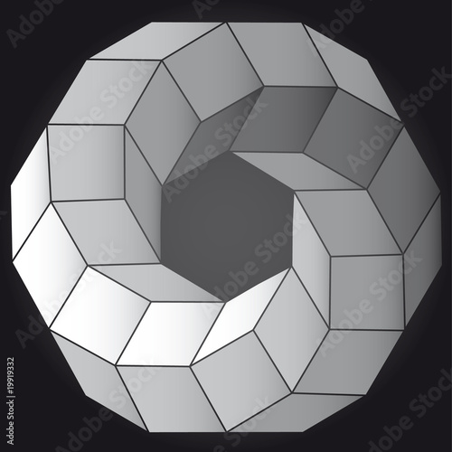 Op art vector illustration abstract 3D