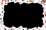 gambling frame made from poker cards poster