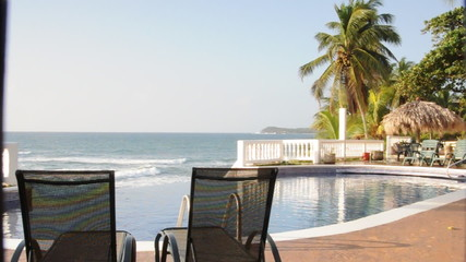 infinity pool resort corn island nicaragua sea sound