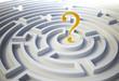 Question mark inside a maze