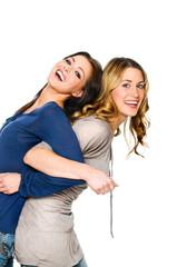 Zwei Freundinnen machen Spaß