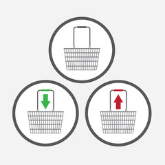 Shopping Basket symbols for e-commerce