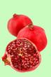 Cut pomegranate half