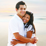 Couple Smiling & Embracing