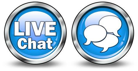 "Glossy 3D Style Buttons ""Live Chat"""