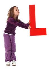 "Letter ""L"" girl"