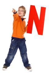 "Letter ""N"" boy"