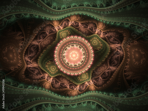 Arabesque. Fractal illustration.