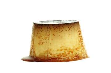 isolated flan