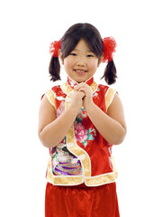 Asian Girl Wishing you a Happy and Prosperous Chinese New Year!